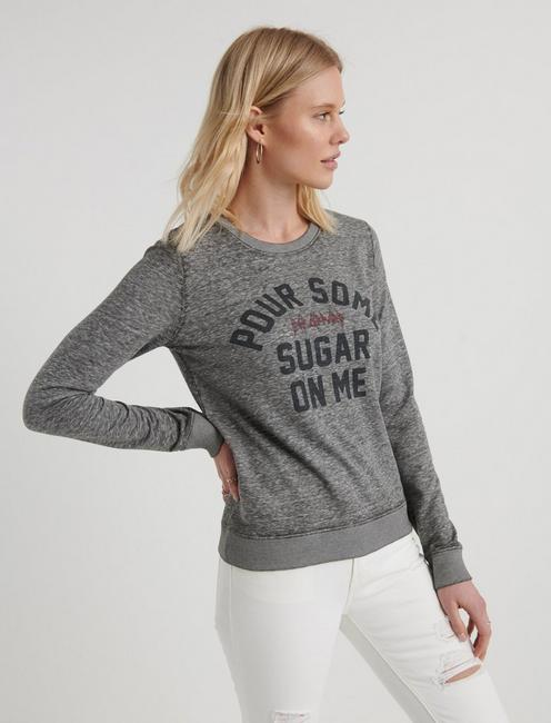 POUR SOME SUGAR ON ME SWEATSHIRT, HEATHER GREY