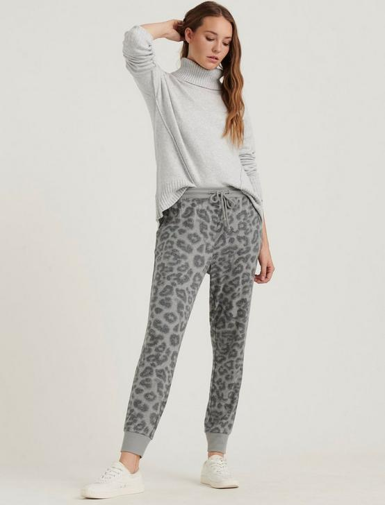 LEOPARD SWEAT PANT, GREY MULTI, productTileDesktop