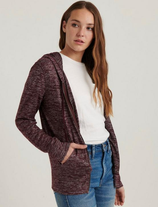 ZIP UP SWEATSHIRT, TAWNY PORT, productTileDesktop