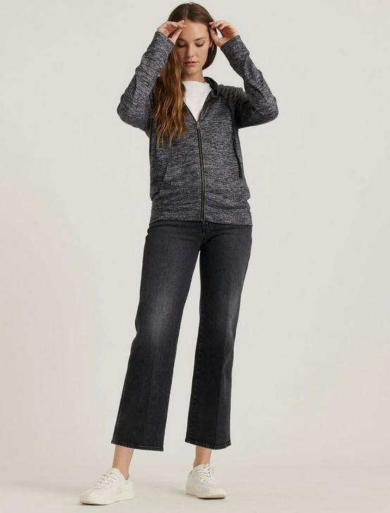 ZIP UP SWEATSHIRT, CHARCOAL HEATHER, productTileDesktop