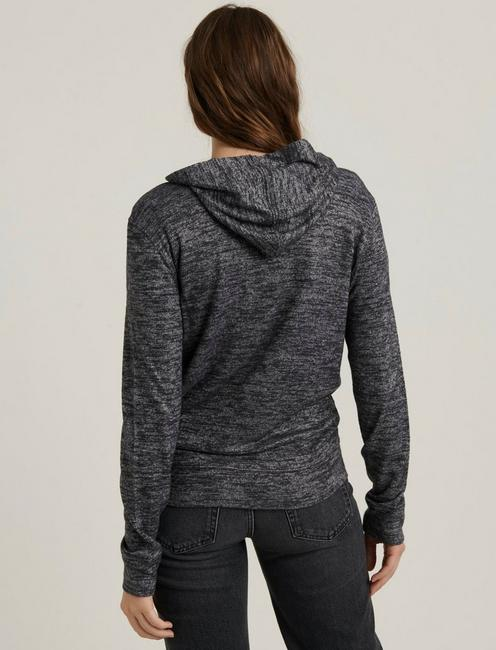 ZIP UP SWEATSHIRT, CHARCOAL HEATHER