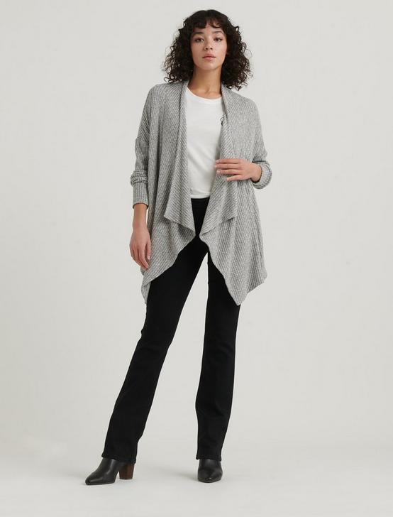 CLOUD JERSEY CARDIGAN, HEATHER GREY, productTileDesktop