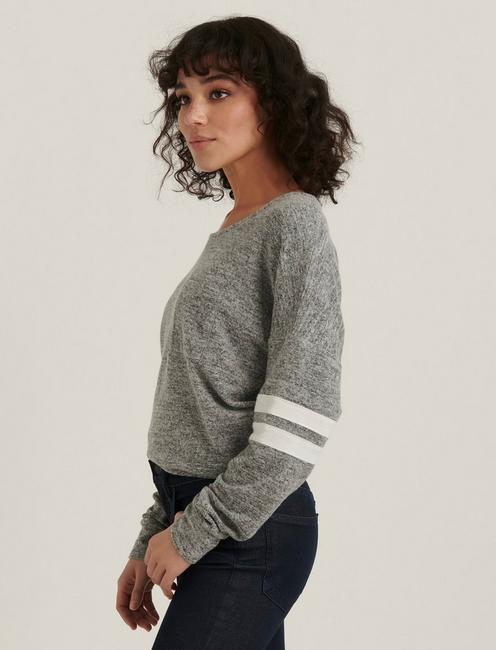 CLOUD JERSEY ATHLETIC PULLOVER, HEATHER GREY