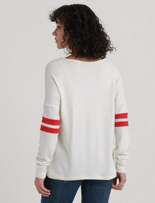 CLOUD JERSEY ATHLETIC PULLOVER, MARSHMALLOW
