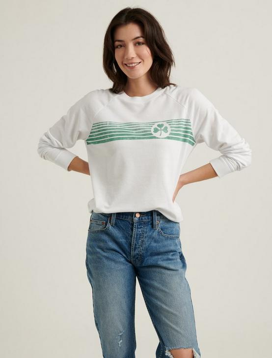 CLOVER STRIPED PULLOVER, LUCKY WHITE, productTileDesktop
