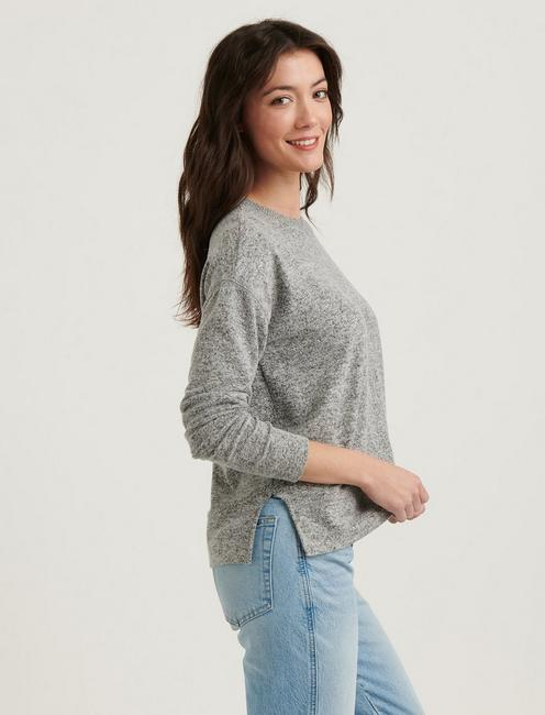 CLOUD JERSEY PULLOVER, HEATHER GREY