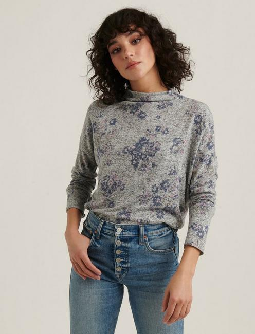 Download Cloud Jersey Printed Mock Neck Top | Lucky Brand