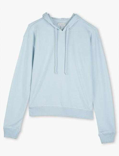 COZY HOODED PULLOVER, WINTER SKY