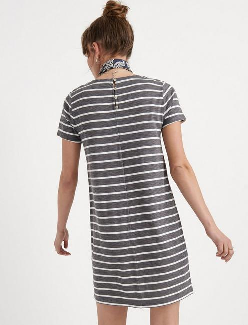 STRIPED TEE DRESS, GREY STRIPE