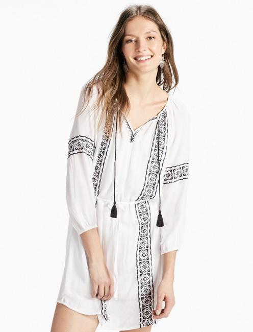 EMBRODIDERED PEASANT DRESS,