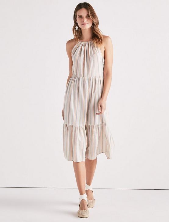 PASTEL STRIPE DRESS, MULTI, productTileDesktop