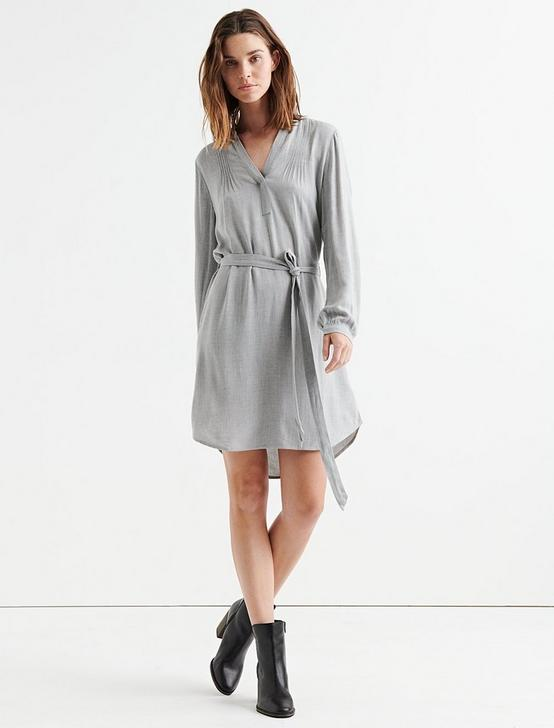 POPOVER SHIRT DRESS, HEATHER GREY, productTileDesktop