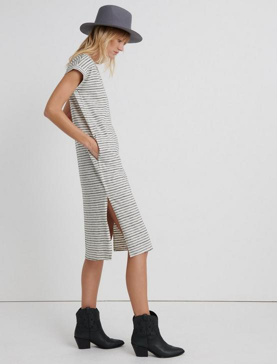 STRIPE TEE DRESS, BLACK STRIPE, productTileDesktop