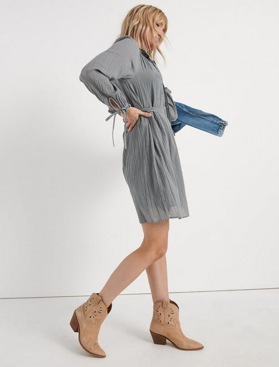 EMBROIDERED SHIFT DRESS, CANTON, productTileDesktop