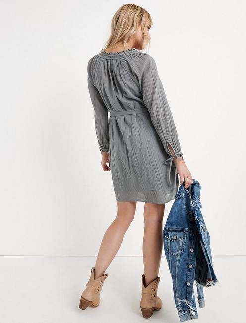 EMBROIDERED SHIFT DRESS, CANTON