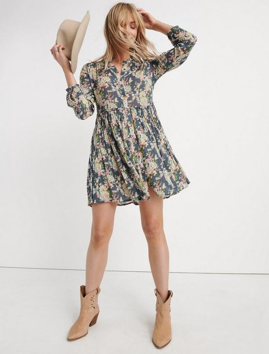 PRINTED SHIRT DRESS, GREY MULTI, productTileDesktop
