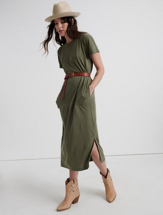 SANDWASH TEE DRESS, IVY GREEN, productTileDesktop