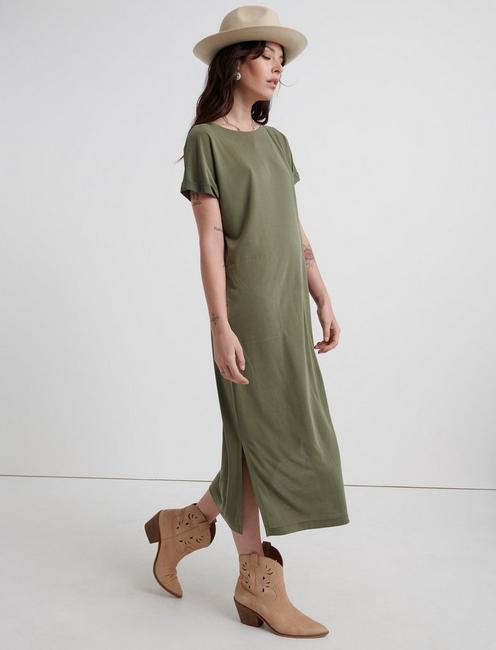 SANDWASH TEE DRESS, IVY GREEN