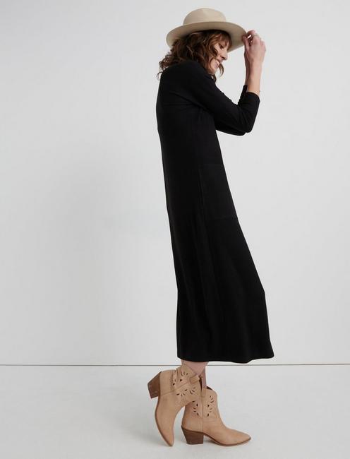 CLOUD JERSEY LONG SLEEVE DRESS, 001 LUCKY BLACK