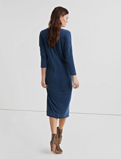SANDWASH SIDE TIE DRESS, AMERICAN NAVY