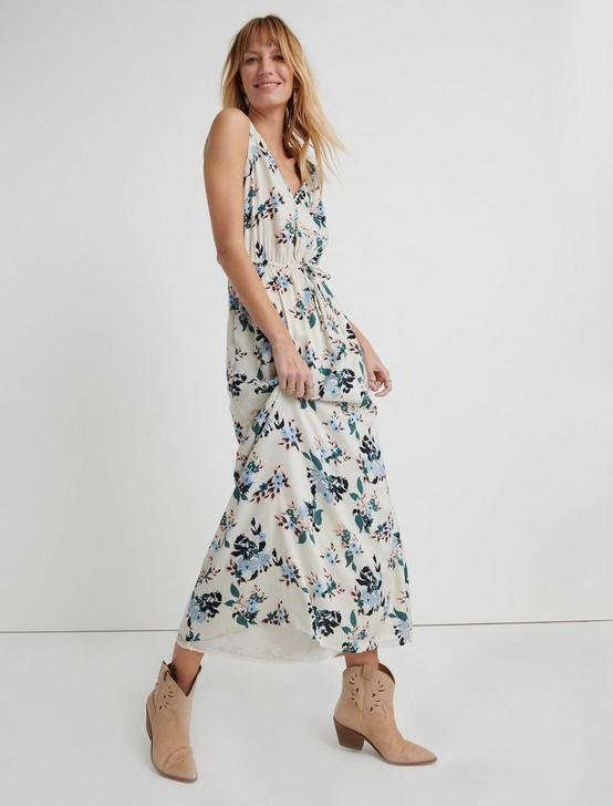 FLORAL V NECK MAXI, WHITE MULTI, productTileDesktop