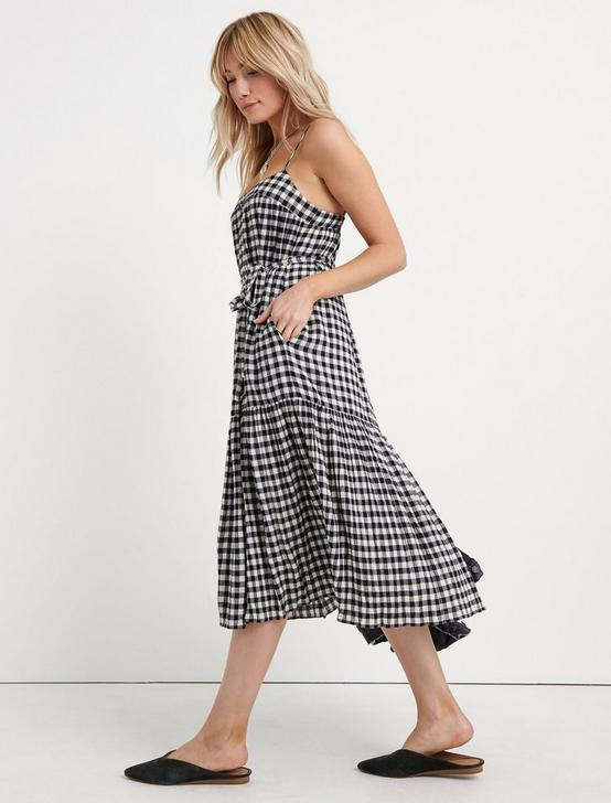 GINGHAM DRESS, BLACK MULTI, productTileDesktop