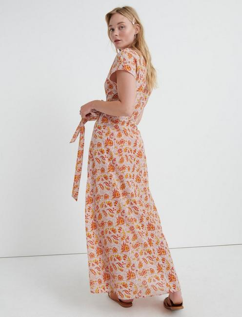 JORDAN WRAP DRESS, PINK MULTI
