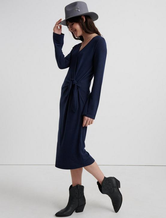 CLOUD JERSEY LONG SLEEVE DRESS, AMERICAN NAVY, productTileDesktop