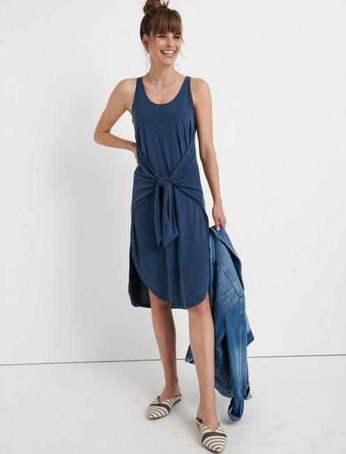 SANDWASH TIED DRESS, AMERICAN NAVY