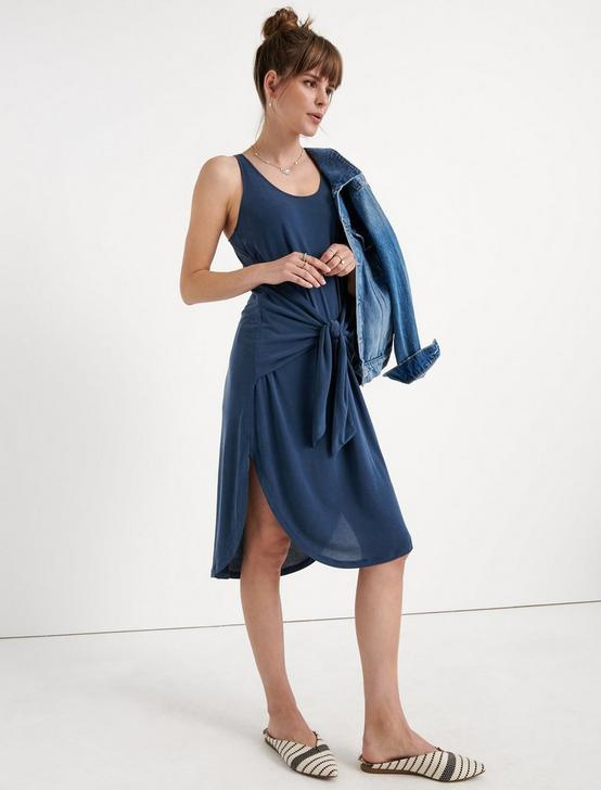 SANDWASH TIED DRESS, AMERICAN NAVY, productTileDesktop