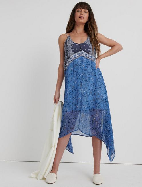 LAYLA SCARF PRINT DRESS,