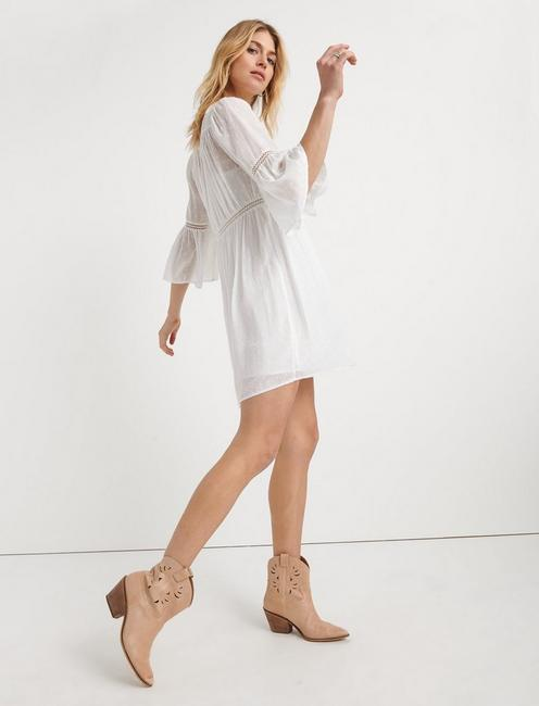 HAZELL PEASANT DRESS, LUCKY WHITE