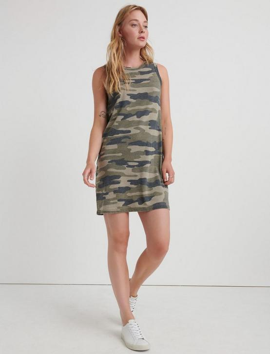 CAMO TANK DRESS, OLIVE MULTI, productTileDesktop