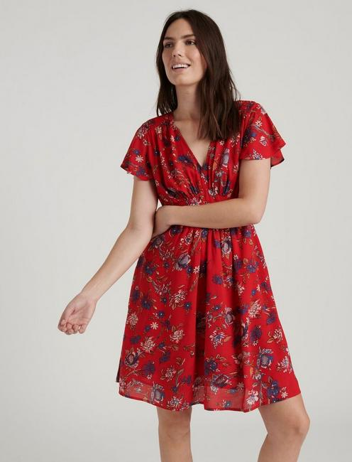 MINNIE FLORAL MINI, RED MULTI