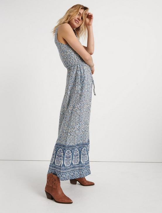 PRINTED WRAP MAXI, BLUE MULTI, productTileDesktop