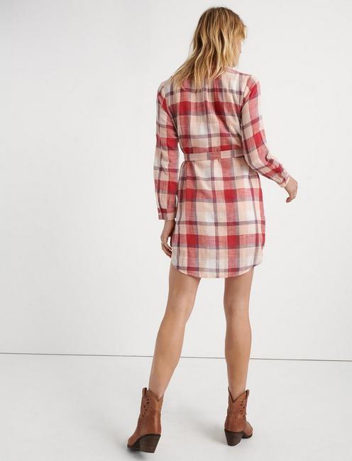 AMBER SHIRT DRESS, PINK MULTI