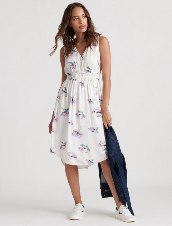 JENNI FLORAL DRESS, NATURAL MULTI, productTileDesktop