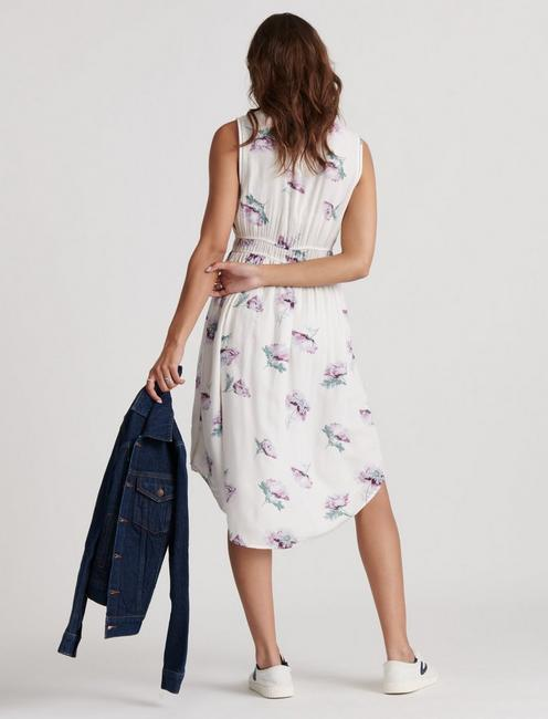 JENNI FLORAL DRESS, NATURAL MULTI