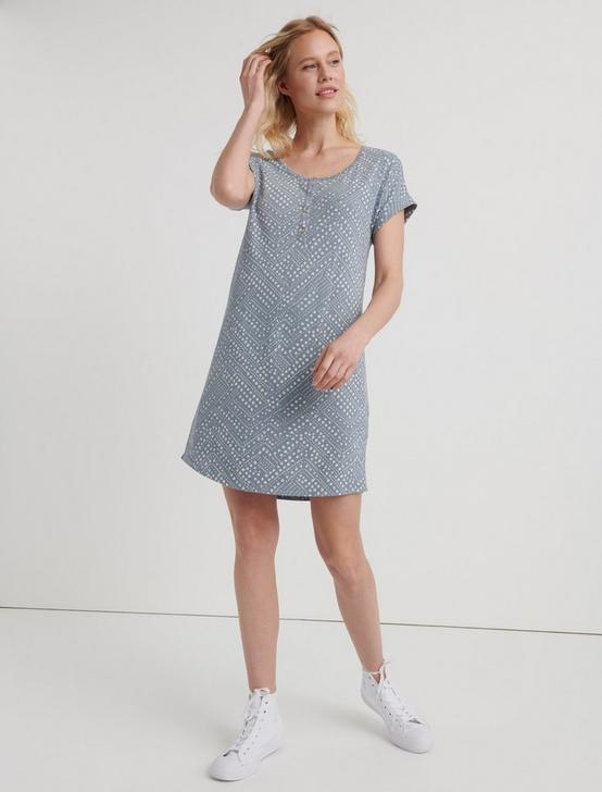 POLKA DOT T-SHIRT DRESS, TRADEWINDS(15-4307), productTileDesktop