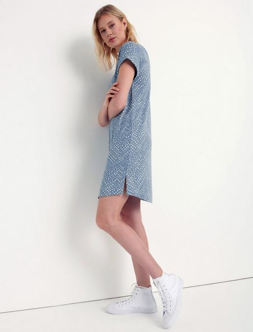 POLKA DOT T-SHIRT DRESS, TRADEWINDS(15-4307)