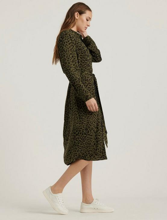 BLAIR LEOPARD DRESS, GREEN MULTI, productTileDesktop