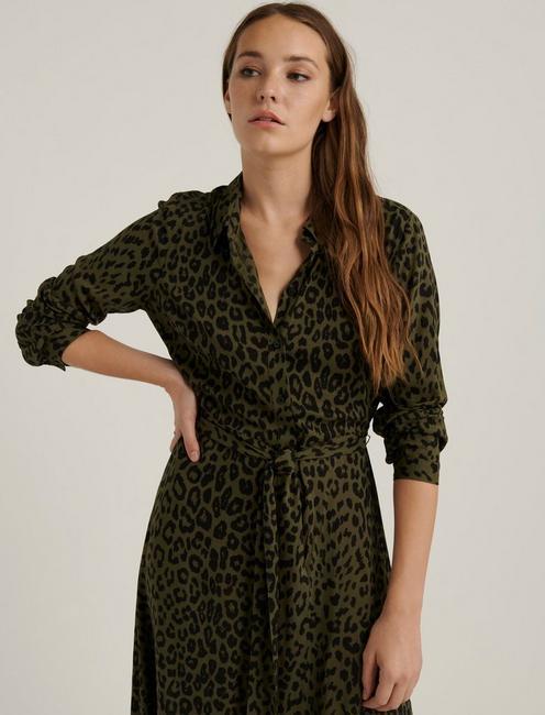 BLAIR LEOPARD DRESS, GREEN MULTI