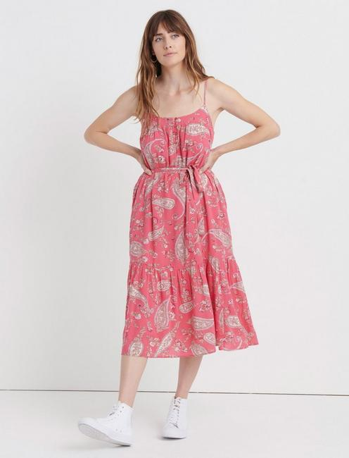 NIKKI PAISLEY DRESS, PINK MULTI