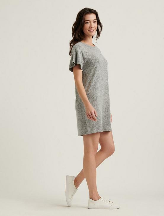 CLOUD JERSEY TEE DRESS, HEATHER GREY, productTileDesktop