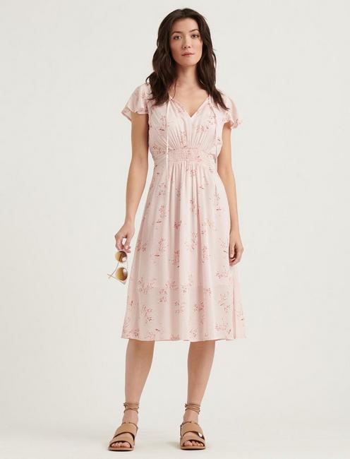 OLIVIA DRESS, PINK MULTI