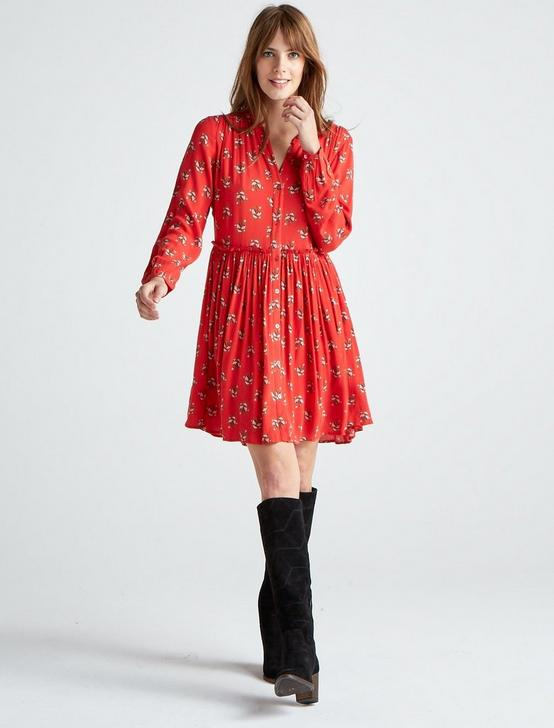 LOLA SHIRT DRESS, RED MULTI, productTileDesktop
