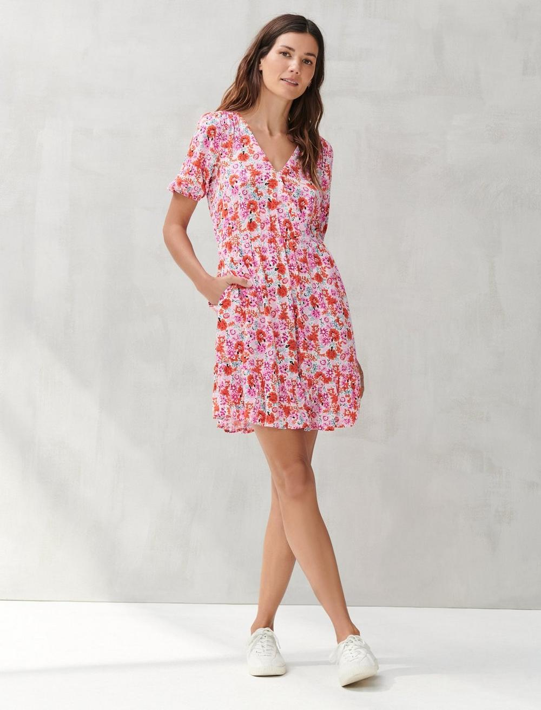 DITSY FLORAL MILA WRAP DRESS, image 1