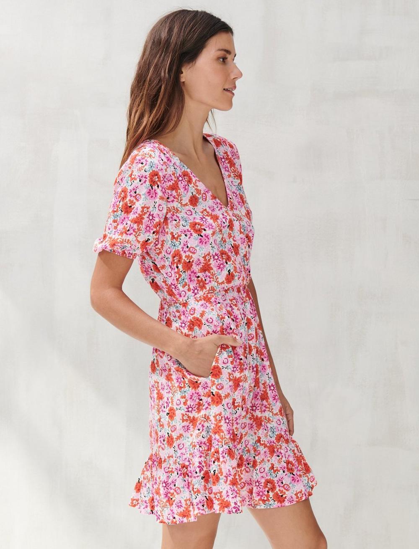 DITSY FLORAL MILA WRAP DRESS, image 2