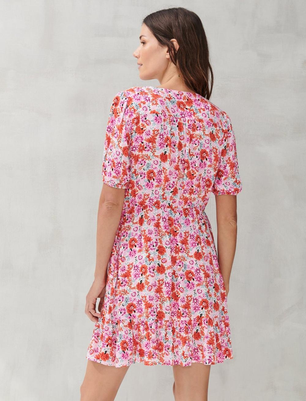 DITSY FLORAL MILA WRAP DRESS, image 3
