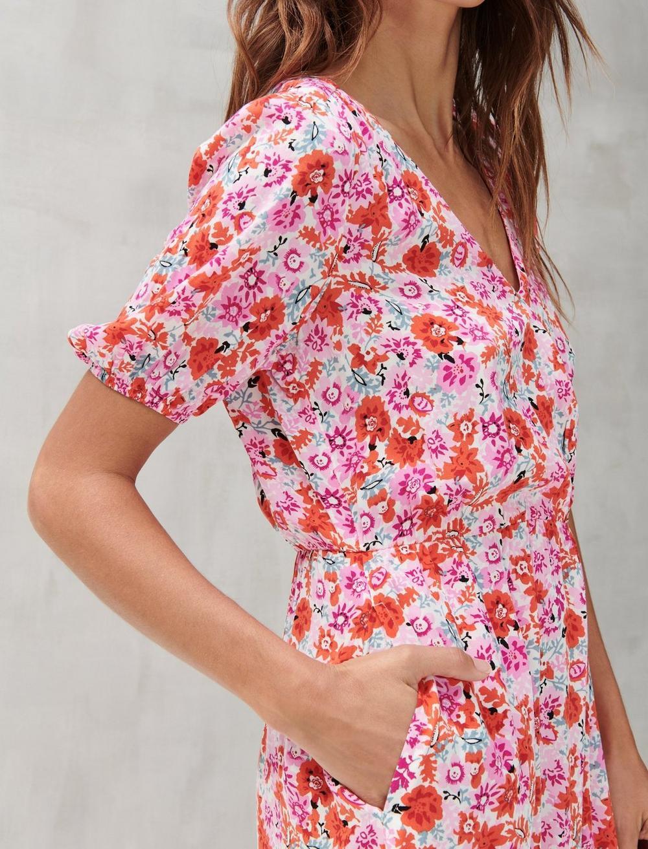 DITSY FLORAL MILA WRAP DRESS, image 4